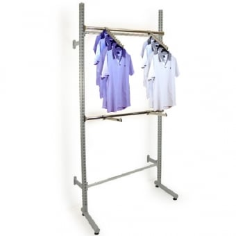 Roto Twin Slot Clothes Display with Straight & Sloping Ball Arms