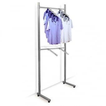 Roto Twin Slot Clothing Rail with 4 x Sloping Ball Arms