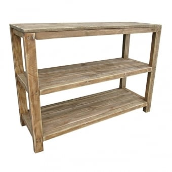 Rustic Wooden Shelf Unit