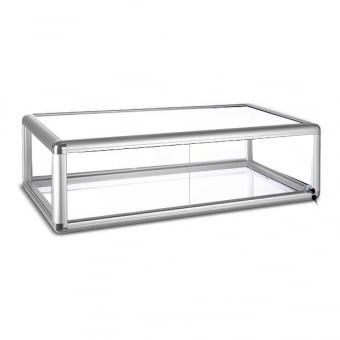 Silver Glass Counter Top Display Cabinet