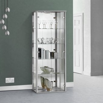 542433f6a9ad Silver Glass Display Cabinet with Lighting - 670mm