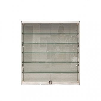 wall mounted cabinets. Silver Wall Mounted Display Cabinet - 1000mm Cabinets A