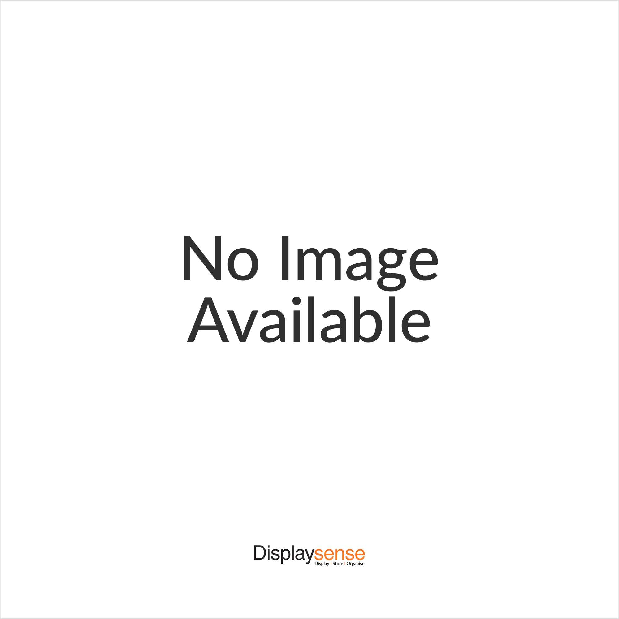 Silver Wall Mounted Glass Display Cabinet