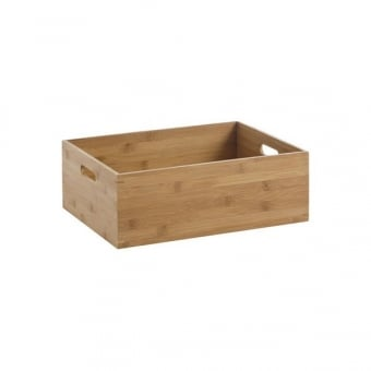 Small Bamboo Storage Box with Handles
