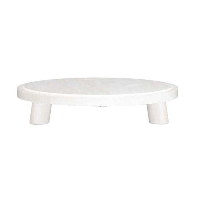 Small Milking Stool Display - White Distressed Finish