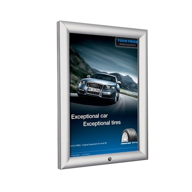 Stahldas A3 Lockable Silver Snap Frame