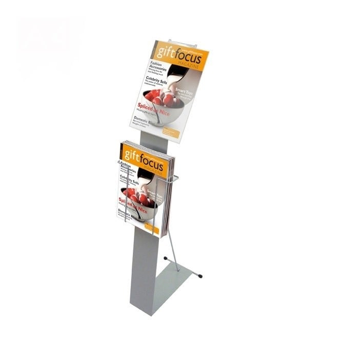 Stahldas A4 Brochure Display Stand with Display Pocket