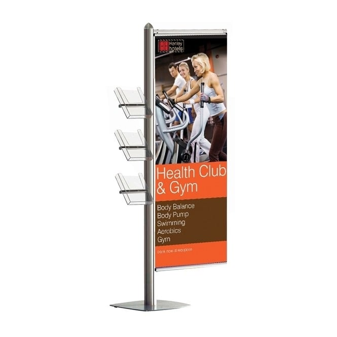 Stahldas A4 Leaflet and Banner Display Stand - MFS Range