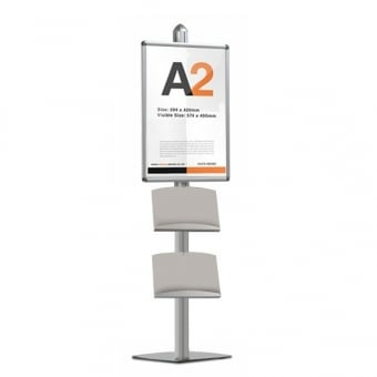 Display Stand with A2 Snap Frame & 2 Steel Dispensers - MFS Range