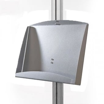 Double A5 Steel Brochure Holder for Display Stand - MFS Range
