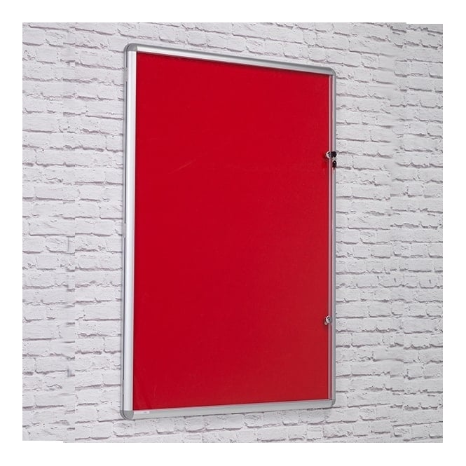 Tamperproof Red Felt Noticeboard - 1200 x 1200mm