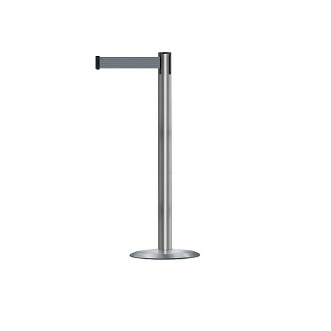 Tensabarrier Advance Stainless Steel Barrier Post - 2.3m Grey Belt
