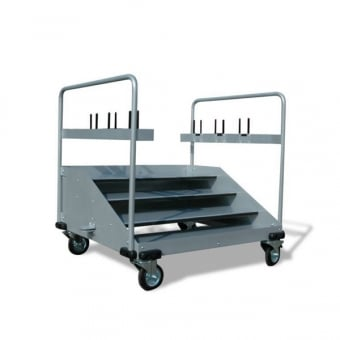 Retractable Barrier Post and Rope Storage Trolley