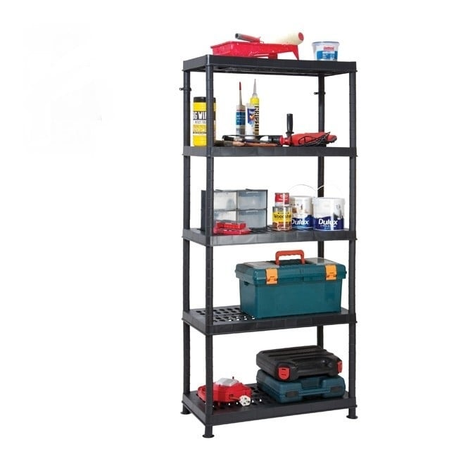 Ventilated Heavy Duty Plastic Shelving - 5 Tier