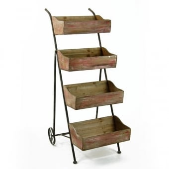 Vintage Wooden Crate Display