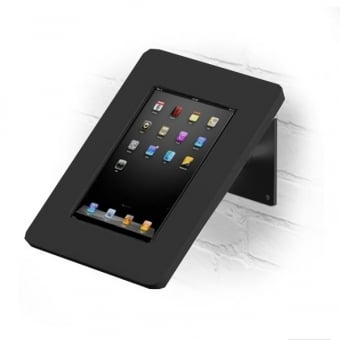 Wall and Desktop Anti-Theft Black iPad Stand with Acrylic Case 9.7