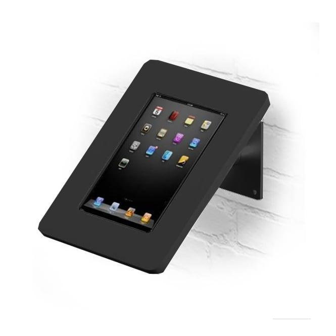 Wall and Desktop Anti-Theft Black Tablet Stand with Acrylic Case 9-10""
