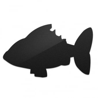 Wall Mounted Fish Shape Chalkboard with White Chalk Marker