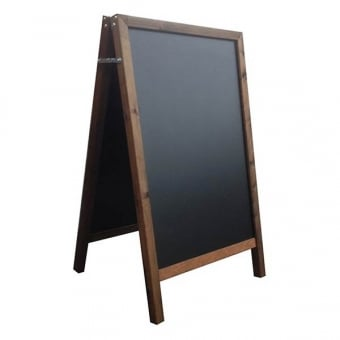Weather Resistant Chalk A-Board - Dark Oak