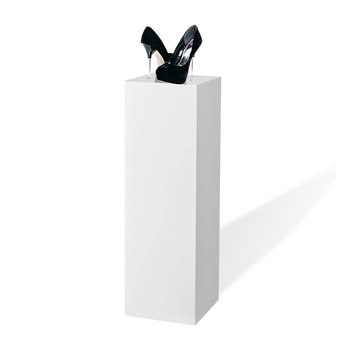 White Acrylic Pedestal Display - 900mm