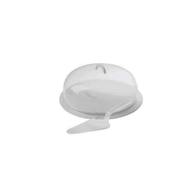White Cake Stand with Acrylic Dome