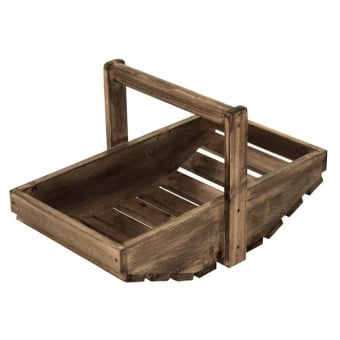 Wooden Trug Display - Distressed Finish